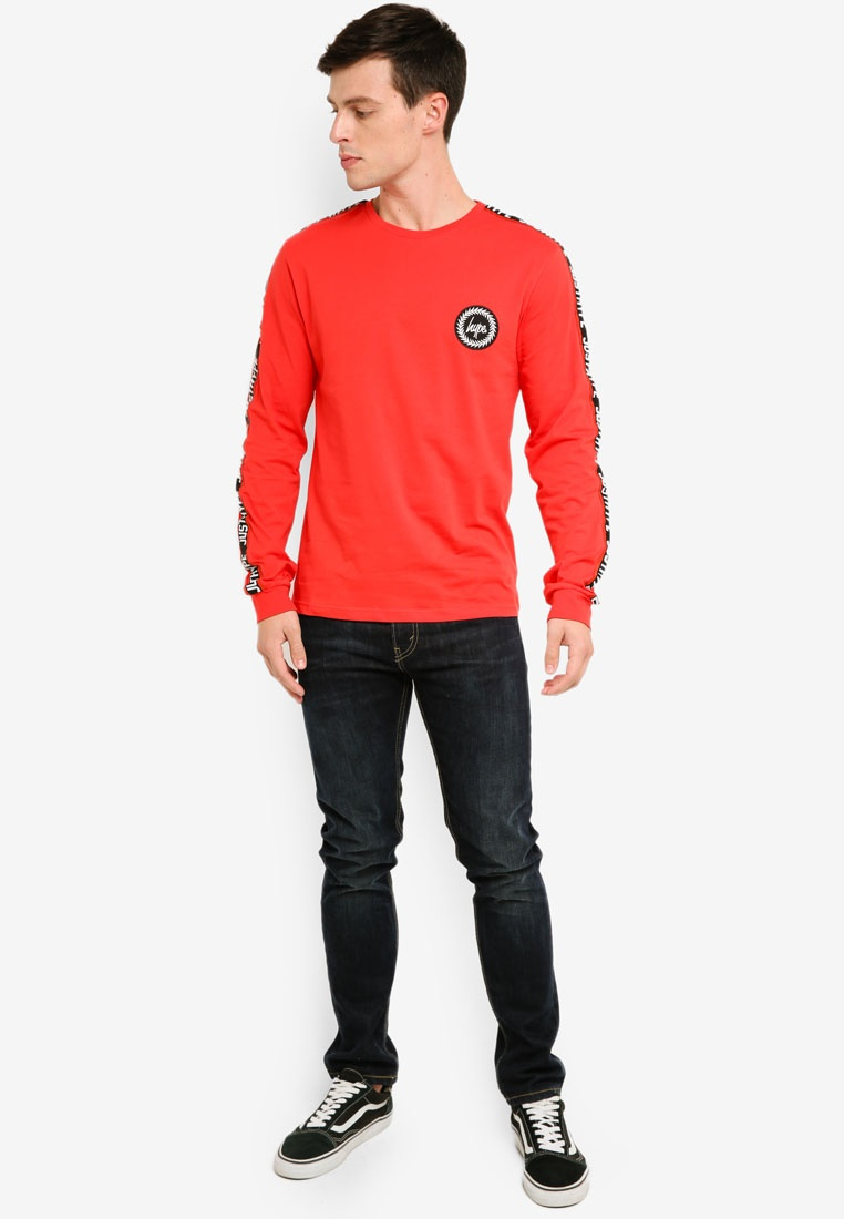 Red Tape T Hype Shirt Just Sleeve Taylor Long 1Axwqa