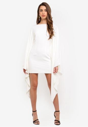 MISSGUIDED white Kimono Style Dress 8A797AA6E158A9GS_1