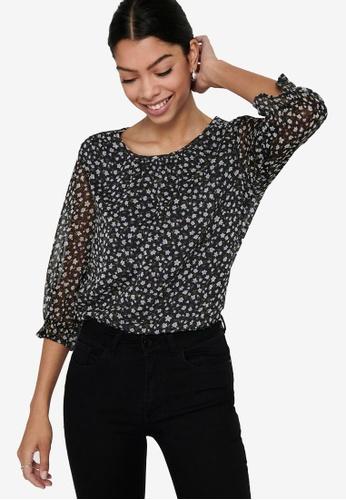 JACQUELINE DE YONG black Penelope 3/4 Top C6E63AAC5EAF1BGS_1