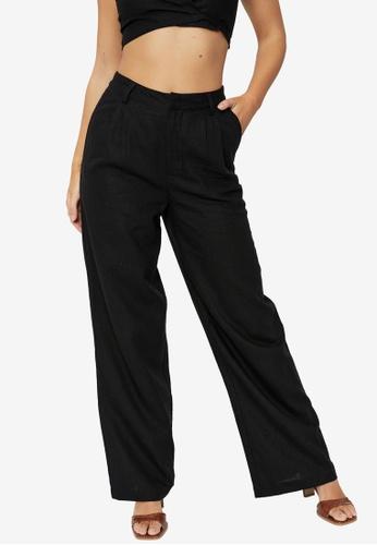 Supre black Kendall Wide Leg Pants 7858FAA45E51E1GS_1