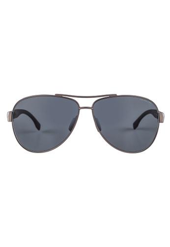 Hugo Boss brown HUGO BOSS Aviator Brown Polarized Sunglasses 0907FS HU898AC33OWKMY_1