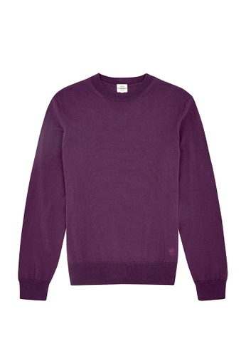 Kent and Curwen purple Purple Knit D814AAA38DC3E0GS_1