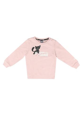 PUMA pink Animals Crew Sweatshirt D76D9KA0EDF851GS_1