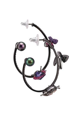 Swarovski gold Magnetized Hoop Pierced Earrings C4539AC1FE7E95GS_1