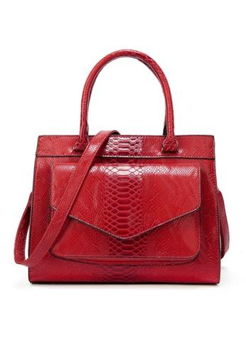 Twenty Eight Shoes red VANSA  Simple Snake Print Hand Bag VBW-Hb017 3225BACF7C85DDGS_1