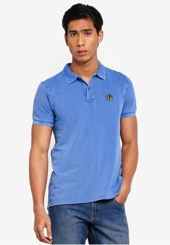 OVS 藍色 刺繡Polo 襯衫 55A7FAA9190A1BGS_1