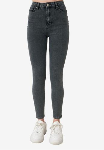Trendyol grey High Waist Skinny Jeans C2C8AAA7487D04GS_1