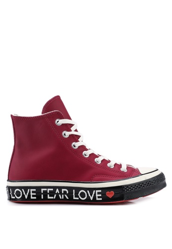f837510bb0a Converse red Chuck Taylor All Star 70 Love The Progress Hi Sneakers  B7408SH3F8B988GS_1