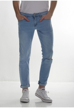 0297a013f03 DRUM blue Light Blue Ripped Jeans 388D7AACAE34BEGS 1