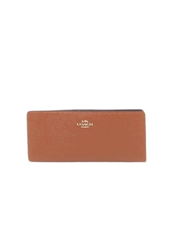 COACH brown Coach Leather Slim C3440 Wallet In Redwood 037CAAC64BEFA6GS_1