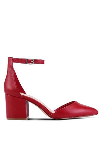 ALDO 紅色 Keclya D'Orsay Pump Block Heels 8DD8DSH8BA99A4GS_1