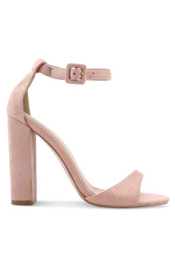Public Desire 粉紅色 Rolo Toe Strap Detail Block 高跟鞋 11F38SHE2A1D3BGS_1