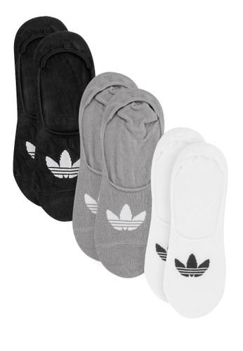 3 Pair Mens Adidas Originals Low Cut Ankle Socks Trefoil Logo Black White