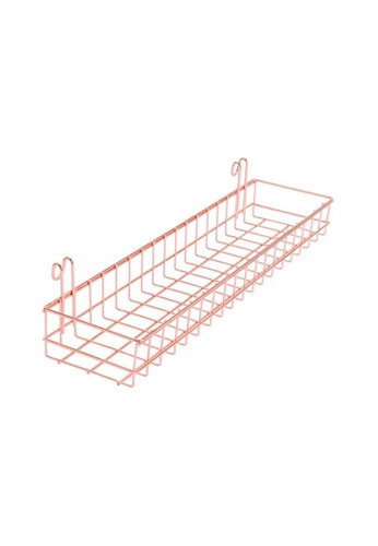 DILAS HOME pink Basket for Wire Wall Grid (Rose Gold) 9FDC7HL711A119GS_1