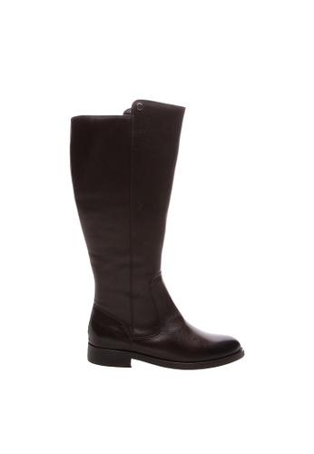 SCHUTZ 褐色 SCHUTZ 低跟長靴 - JOAN (深棕色) DF778SH78C5C25GS_1