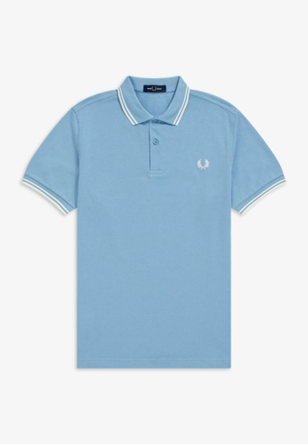 Fred Perry blue M3600 - Twin Tipped Fred Perry Shirt - (Sky/Snow/Snow) 87E8AAA4118C83GS_1