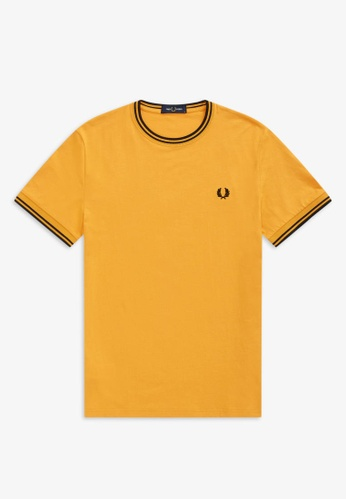Fred Perry M1588 - Twin Tipped T-Shirt - (AMBER) FAAC2AA266752FGS_1