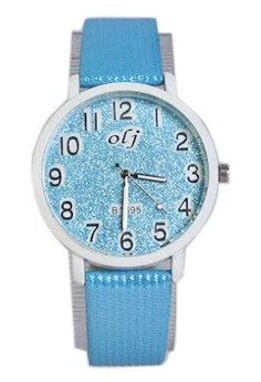 OLJ Glitters Women's Leather Strap Watch B1695