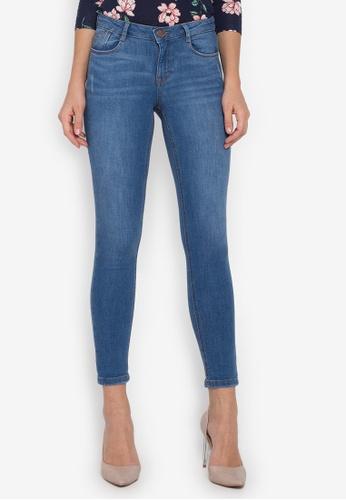 Dorothy Perkins blue Mid Wash Harper Skinny Jeans DO101AA0KL51PH_1