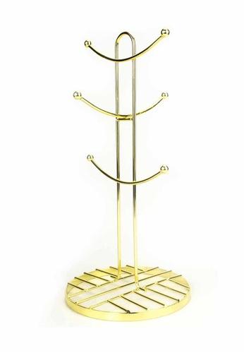 Slique gold Signature By Premium Metal Gold Electroplate 6 Mug Rack 7ED18HL9290958GS_1