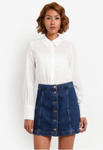 Vero Moda white Erika Shirt VE975AA0S3ZYMY_1