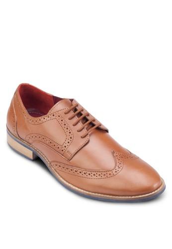 雕花繫帶皮鞋, 鞋,esprit outlet 香港 鞋