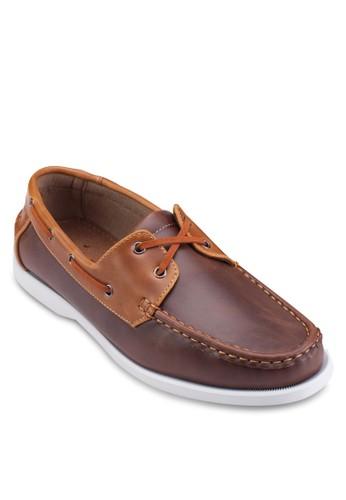 穿孔繫帶仿皮休閒鞋,esprit 西裝 鞋, 船型鞋