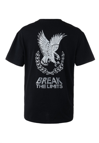 "Ed Hardy black Ed Hardy ""Break The Limit"" Eagle Rhinestone Oversize Embroidered Tee CF671AA5640E7CGS_1"