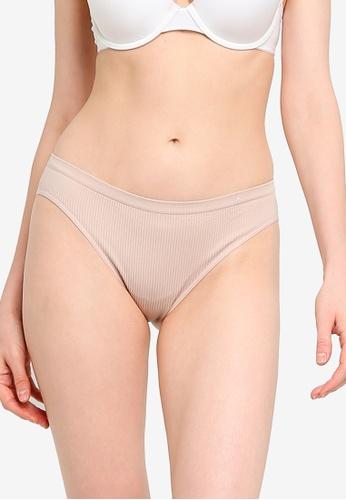 Cotton On Body brown Seamfree Bikini Brief 02B40US88032DEGS_1