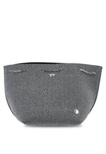La Fille Des Fleurs silver Beatrice Lurex Bucket Bag 0F183ACA4970DFGS_1