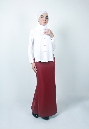 Ladies Jeans red Modest Office Long Skirt 8390BAA41C0A10GS_1