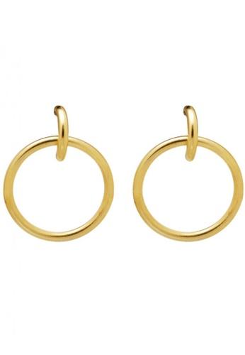 SKEDA gold Charlie Hoop Earrings 9B394AC034160EGS_1