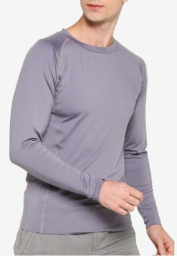 ZALORA ACTIVE grey Long Sleeve Muscle T-Shirt FAE81AA03A2170GS_1