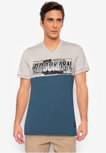 Ego multi V-neck Crazylines Short Sleeve T-Shirt 94C06AA959DF40GS_1