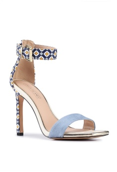 13e765905c0c3 River Island Nelly Blue Print Heels S  71.90. Sizes 4 5 7 8