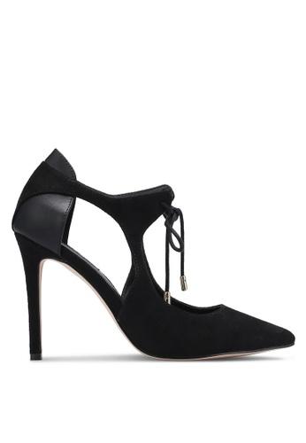 ZALORA black Lace Up Court Heels BBB0AZZ3F257B5GS_1