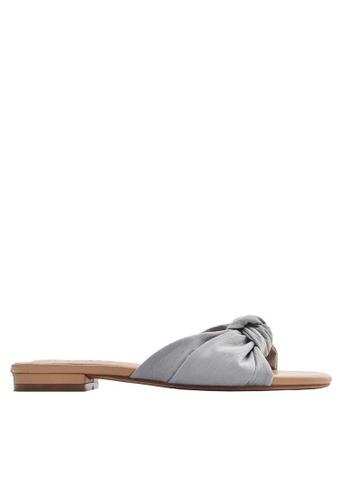 Twenty Eight Shoes 綢布蝴蝶結拖鞋6848-5 25B25SHDDE395DGS_1