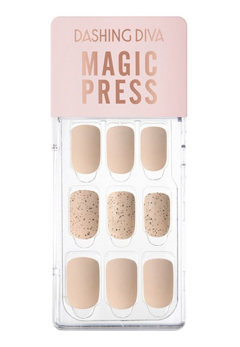 Dashing Diva beige Dashing Diva 1 SEC. MAGIC PRESS Manicure Beige Sand / Press on Nails /Nail Tips 38B05BE75EBCA7GS_1