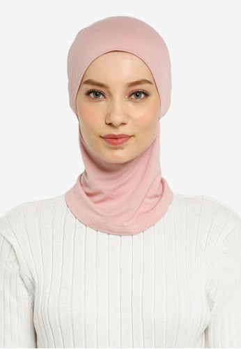 Hijabii pink Cady Inner Neck Tie in Pink 5D4E0AA9E17116GS_1