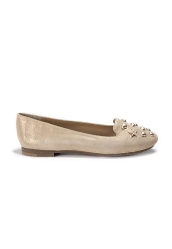 Shu Talk 金色 LeccaLecca 型格配飾平底鞋 3065ESH6D733E6GS_1