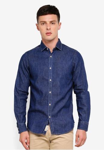 Sisley blue Denim Shirt 35239AA03D021DGS_1