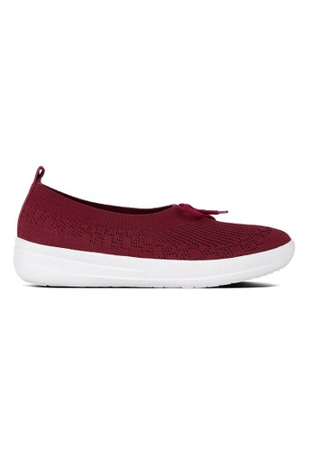 FitFlop purple Fitflop Uberknit Slip-On Ballerina With Bow (Berry) 6C604SH62E03D8GS_1