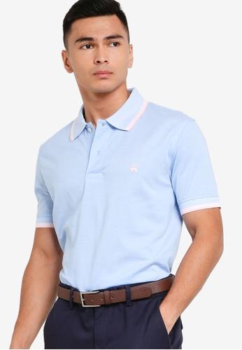 Brooks Brothers blue Knit Polo Shirt 47562AA3E5D6B8GS_1