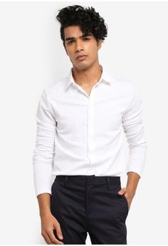 a42ed0be River Island white Long Sleeve Button Through Shirt B4ABEAA27E879AGS_1