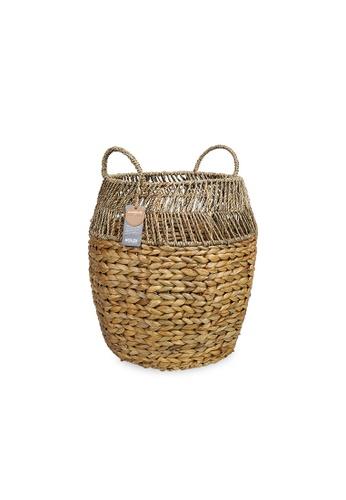 HOUZE ecoHOUZE Hyacinth Round Basket With Handles 9BCFBHL0DEA443GS_1