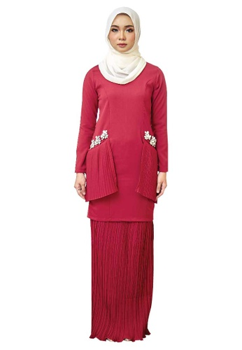Farraly Grace Kurung from FARRALY in Red