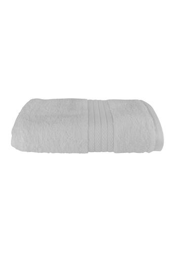 Charles Millen white SET OF 2 Charles Millen Suite Collection 100% Combed Cotton Pace Bath Towel 60 x 120cm ( 320g ). 490D8HL70D2F87GS_1