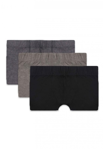 Burlington black and grey and brown Men's Boxer Brief 3 Pieces In A Pack B2991US4A89CA6GS_1