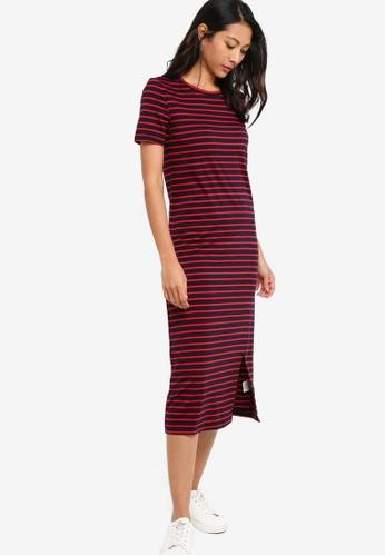 ZALORA BASICS multi Basic Midi Dress With Slit 649AAAAADE5E9CGS_1