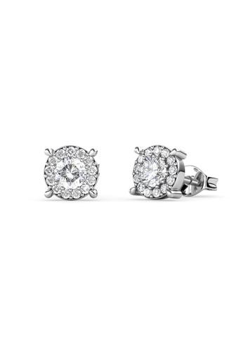 Her Jewellery silver Swarovski® Crystals - Boat Wheel Earrings (18K White Gold Plated) Her Jewellery HE581AC0R9U9MY_1